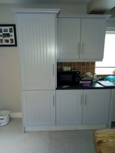 Refurbished kitchen colour vintage silver