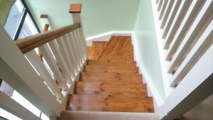 Refurbished stairs hand rails treads risers etc sanded painted stained and lacquered by Mark Henshaw Custom Carpentry